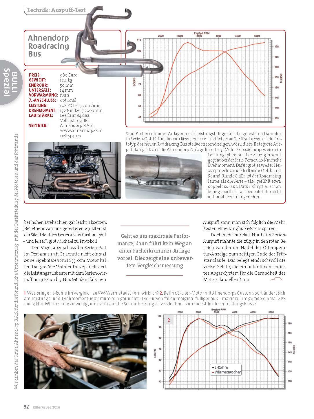 Ahnendorp Bas Pressemitteilungen Wasserboxer Engine Diagram Auspufftest Kfer Revue 1 2016 Vw Classic Sonderbericht Lsystem Boxermotoren